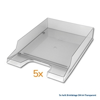 helit Briefablagen DIN A4 Transparent-1-small-img